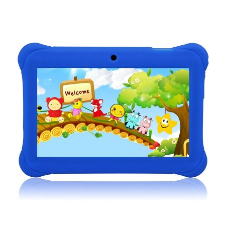 "7"" T7K Quad Core Android Kids Tab let, with Wifi and Camera and Games, HD Kids Edition with Kid Mode Pre-Installed"