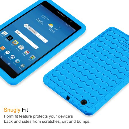 Fintie AT&T Trek 2 HD Silicone Case - [Anti Slip] [Kids Friendly] Light Weight Shock Proof Protective Cover, Blue - image 3 de 7