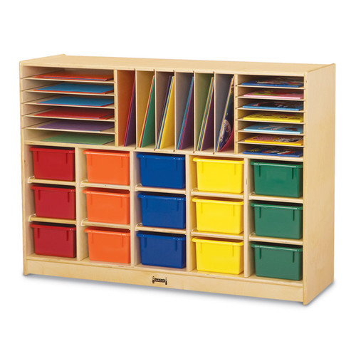 Jonti-Craft Sectional Tray Portable 35 Compartment Cubby with Casters
