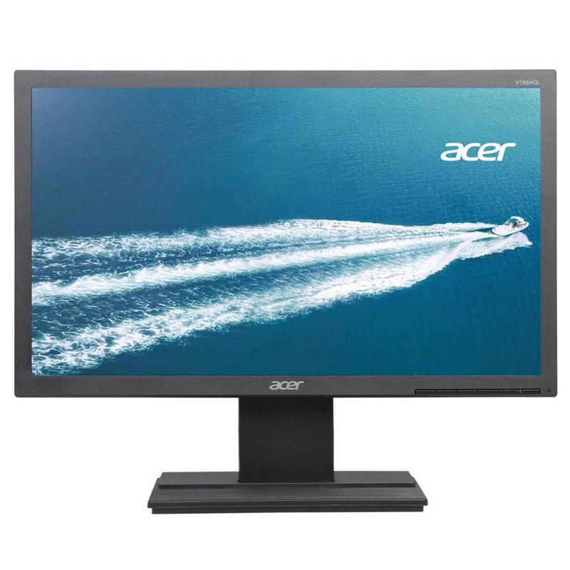 "Acer 18.5"" LCD Widescreen Monitor Display WXGA 1366 x 768 5 ms TN Film|V196HQLAB | Manufacturer Refurbished"