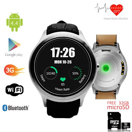 Indigi   Factory Unlocked  3G Bluetooth Sync Android 4 4 Kitkat Smartwatch And Phone   Camera W  32Gb Microsd Included