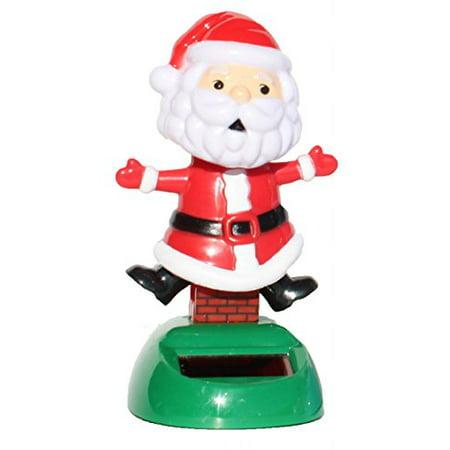 Santa Claus on the Chimney Christmas Solar Toy