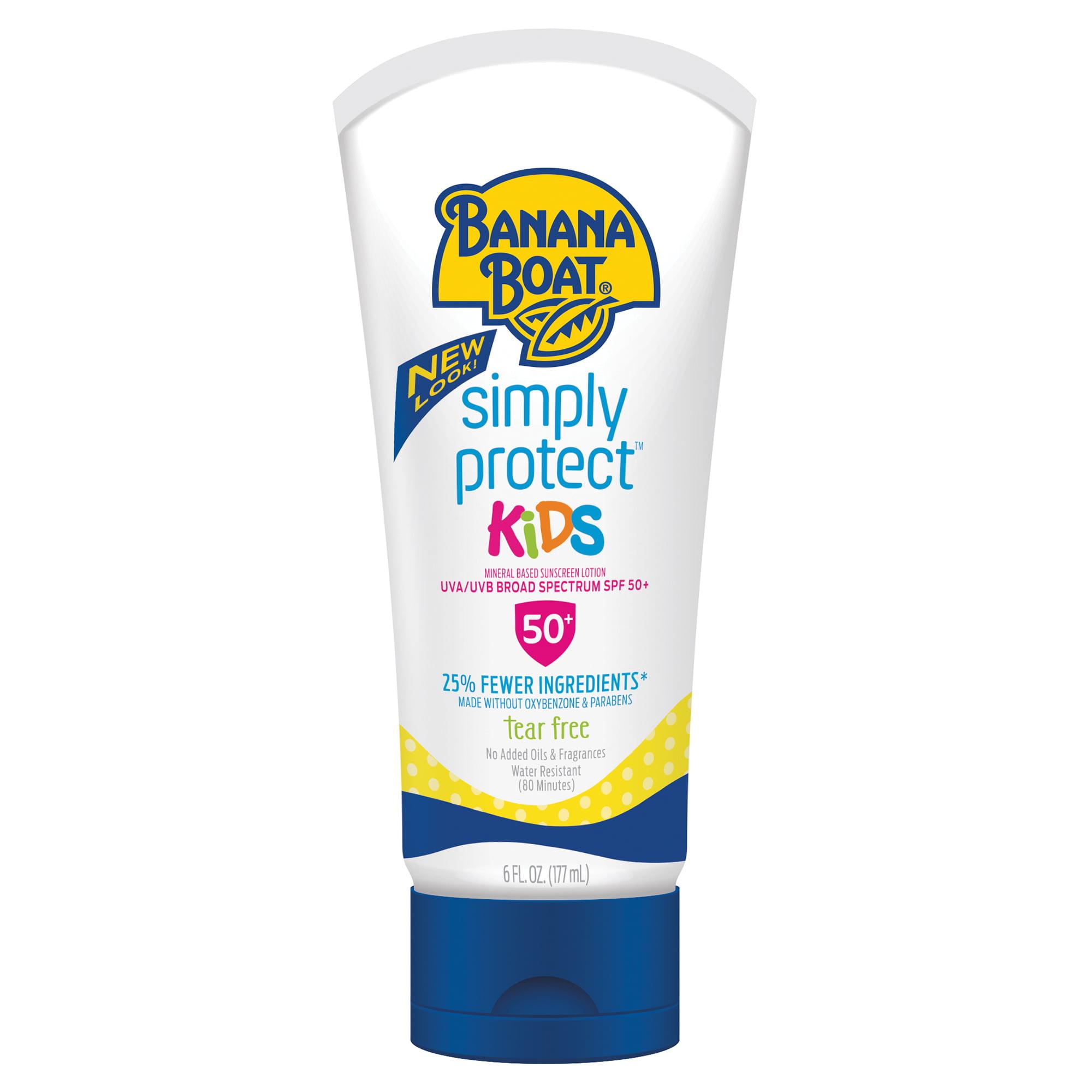 Banana Boat Simply Protect Kids Sunscreen Lotion SPF 50+, 6 Oz, Packaging May Vary