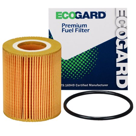 ECOGARD X10643 Cartridge Engine Oil Filter for Conventional Oil - Premium Replacement Fits Jaguar F-Pace / Land Rover Discovery, Range Rover, Range Rover