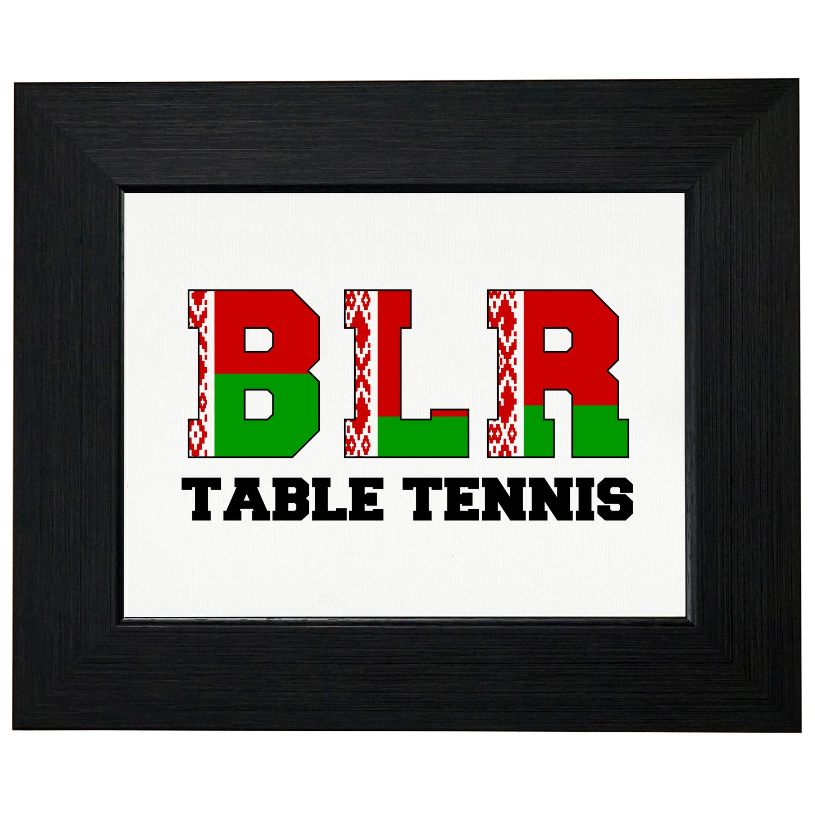 Belarus Ping Pong Olympic Games Rio Flag Framed Print Poster Wall or Desk Mount Options by Royal Prints