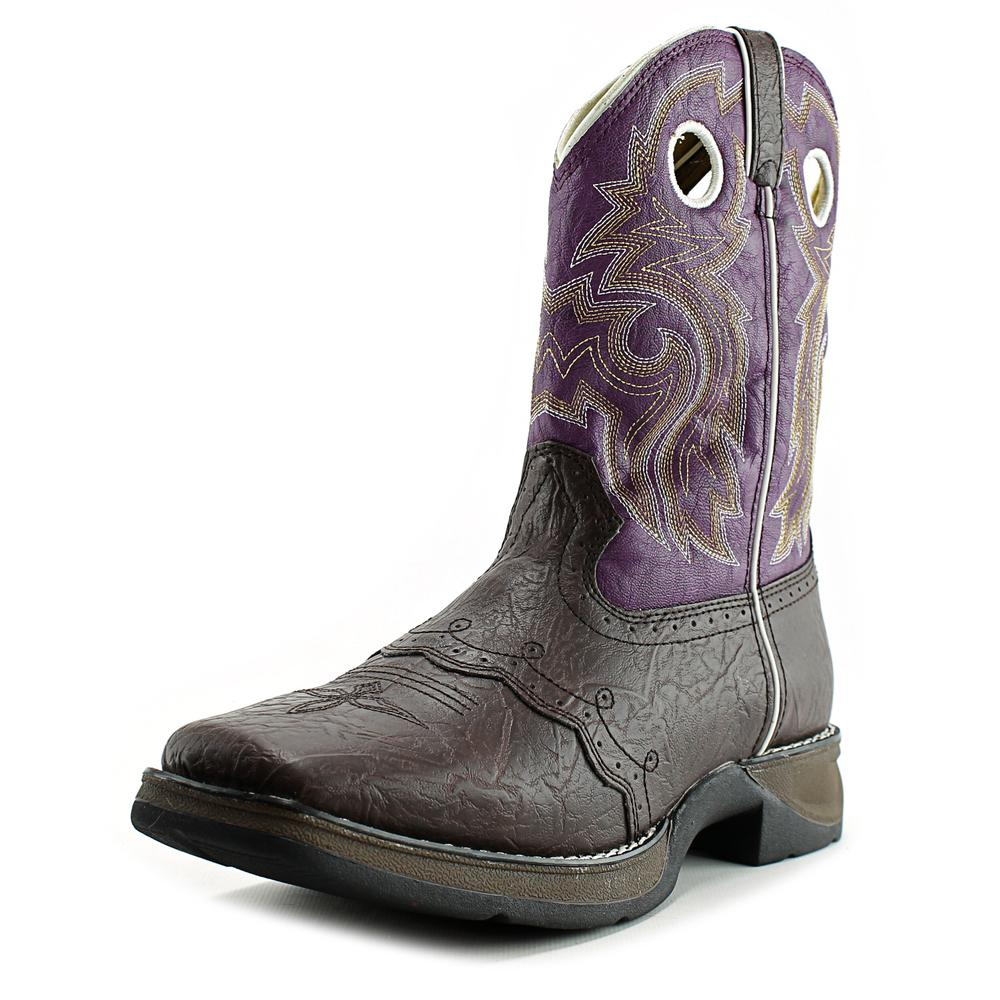 "Durango 8"" Western Boot Youth Square Toe Synthetic Brown Western Boot by Durango"