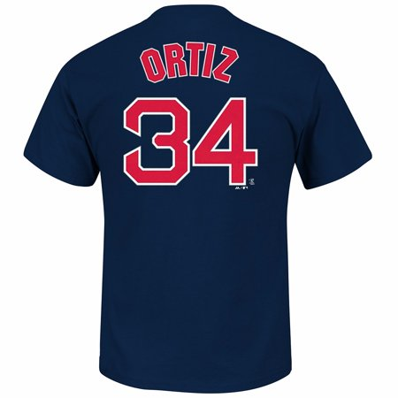 Baseball Jersey Numbers (David Ortiz Boston Red Sox MLB Majestic Men's Navy Blue Name & Number Player Jersey T-Shirt )