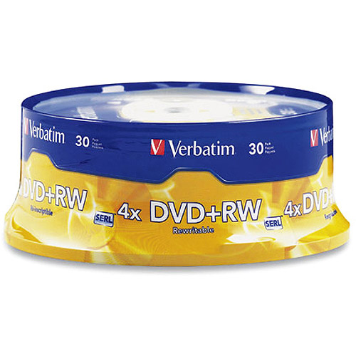 Verbatim 4.7GB 4X DVD+RW 30 Packs Cake Box Disc