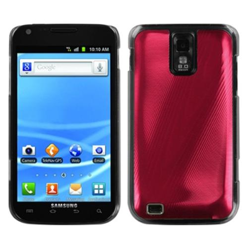 Insten Red Cosmo Back Case for SAMSUNG: T989 (Galaxy S II)