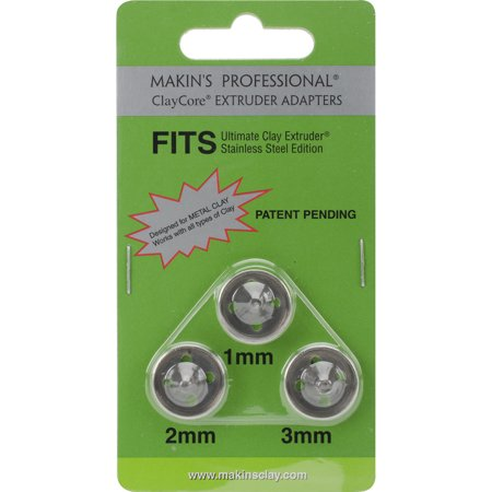 Makin's The Ultimate Clay Extruder Clay Core Adapters, 1mm, 2mm, 3mm