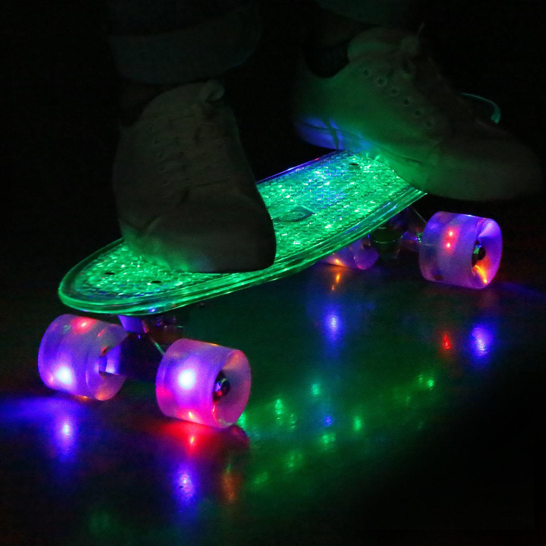 Light Cruiser Skateboard Complete Retro Skateboard for Boys and Girls GlSTE by