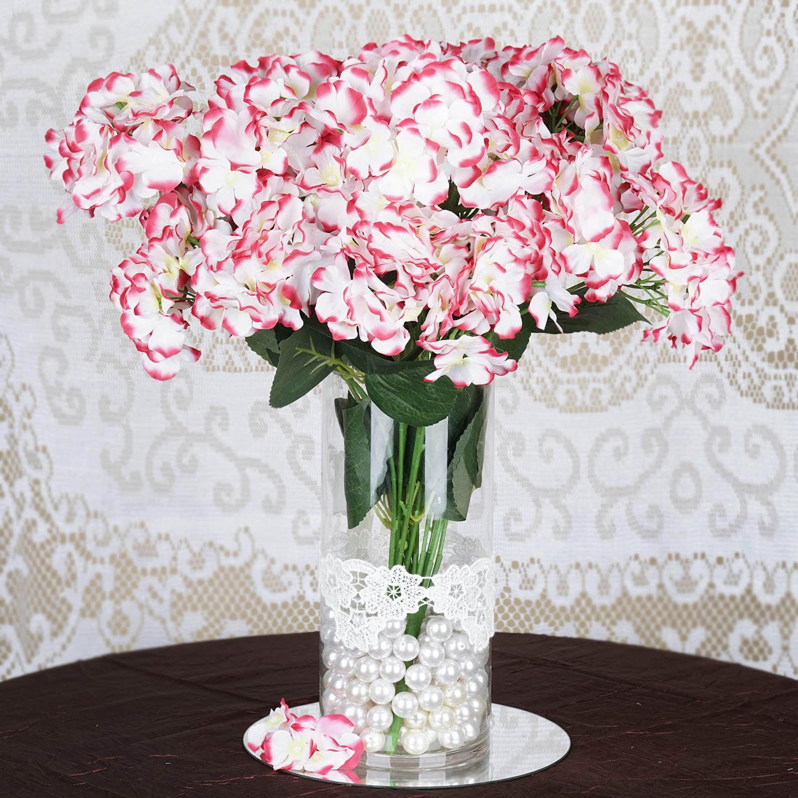 BalsaCircle 28 Silk Hydrangea Flowers - DIY Home Wedding Party Artificial Bouquets Arrangements Centerpieces