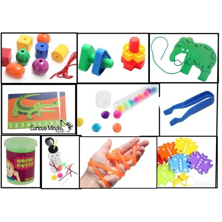 Busy Bag Activity Bundle of 10 Activities - Toddler and Preschool Learning and Travel Toys - Preschool Learning Toys