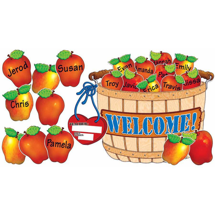 Scholastic Bulletin Board Set, Giant Apple Basket Design