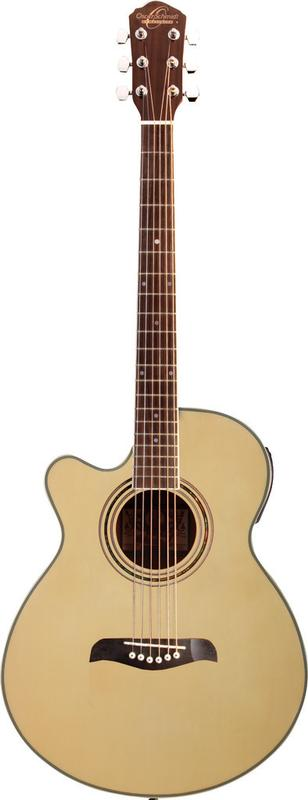Oscar Schmidt Left Hand Acoustic Electric Guitar, Spruce Top, Natural, OG10CENLH by Oscar Schmidt