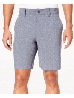 Mens Flat Front Khaki Chino Stretch Shorts 38