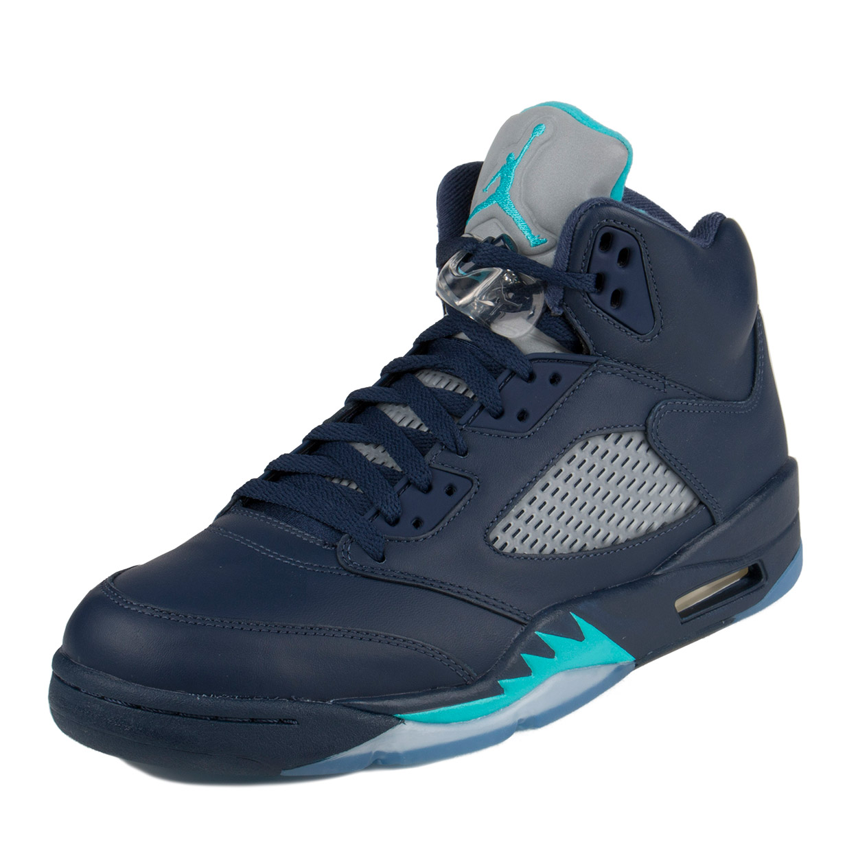 "Nike Mens Air Jordan 5 Retro ""Hornets"" Midnight Navy/Turqouise Blue 136027-405"
