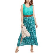 Faded Glory Women's Plus Open Back Lace Cami Maxi Dress