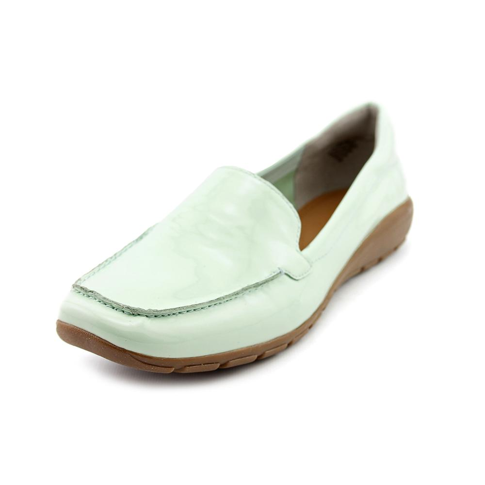 Easy Spirit Abide Women Moc Toe Patent Leather Blue Loafer by Easy Spirit