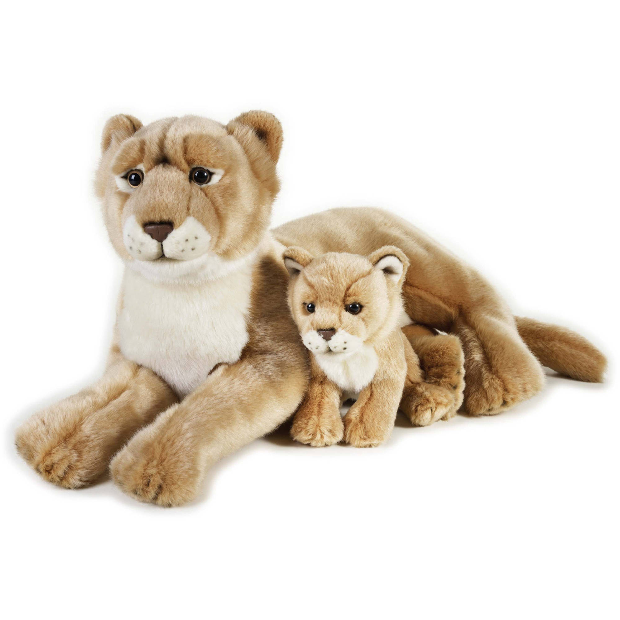 Lelly National Geographic Plush, Lioness with Baby by Venturelli
