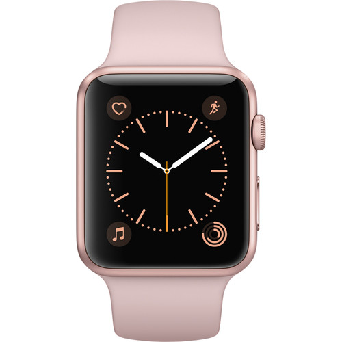 Refurbished Apple Watch Gen 2 Series 1 42mm Rose Gold Aluminum - Pink Sand Sport Band MQ112LL/A