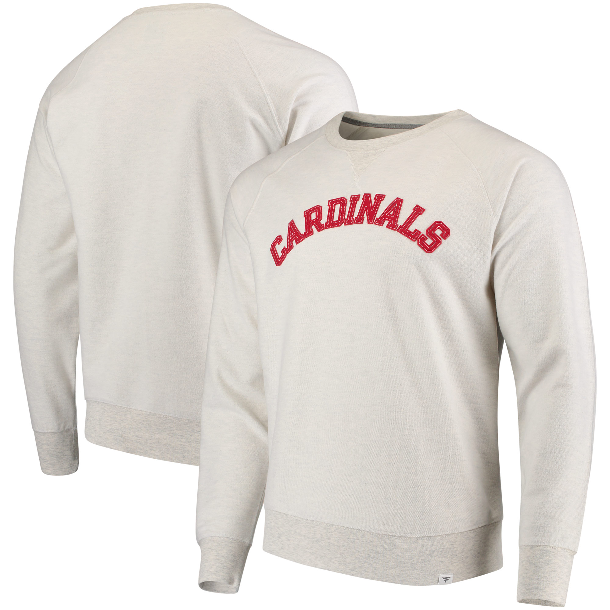 St. Louis Cardinals Fanatics Branded True Classics French Terry Pullover Sweatshirt - Cream