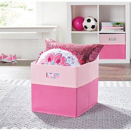 Better Homes Gardens Storage Bin Pink Pom