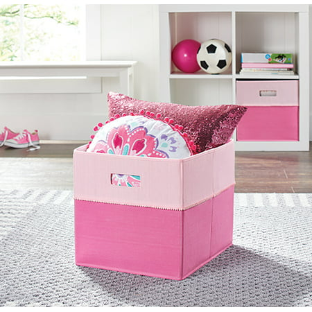 "Better Homes and Gardens Fabric Cube Storage Bin (12.75"" x 12.75""), Single Unit, Multiple Colors"