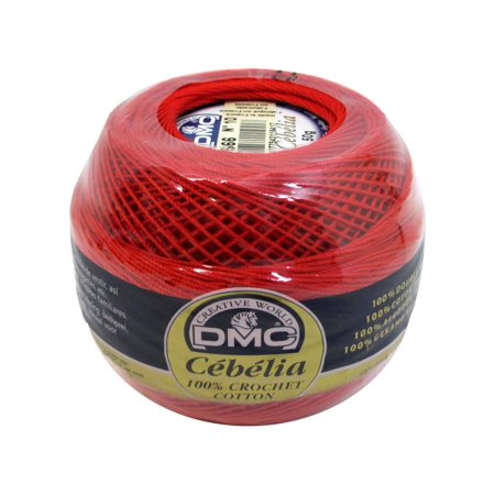 DMC Cebelia Crochet Cotton 10 Bright Red