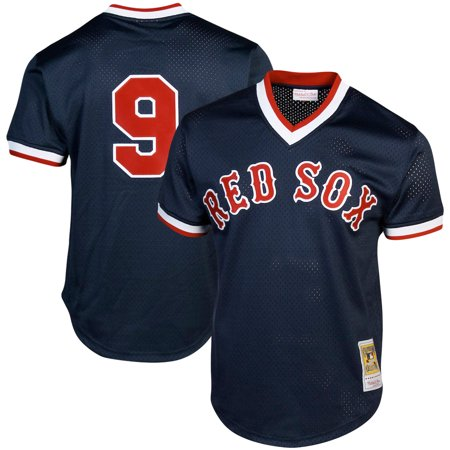 Ted Williams Boston Red Sox Mitchell & Ness Cooperstown Collection Big & Tall Mesh Batting Practice Jersey - Navy (Red Sox Batting Practice Jersey)
