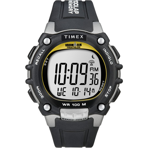 Timex Men's Ironman Classic 100 Full-Size Watch, Black Resin Strap