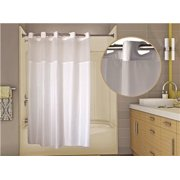 WINGINTS PREHOOK ALLURE SHOWER CURTAIN WITH VOILE WINDOW, 300 DENIER POLYESTER, 71 IN. X 77 IN., WHITE per 2 Each