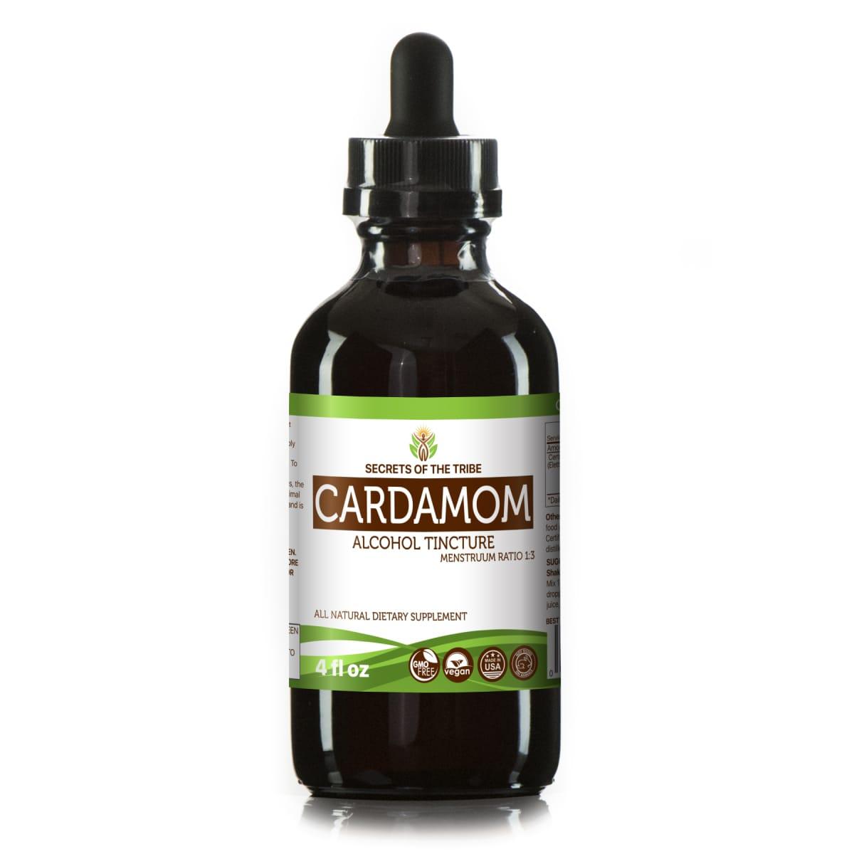Cardamom Tincture Alcohol Extract, Organic Cardamom (Elettaria cardamomum) Dried Seed 4 oz