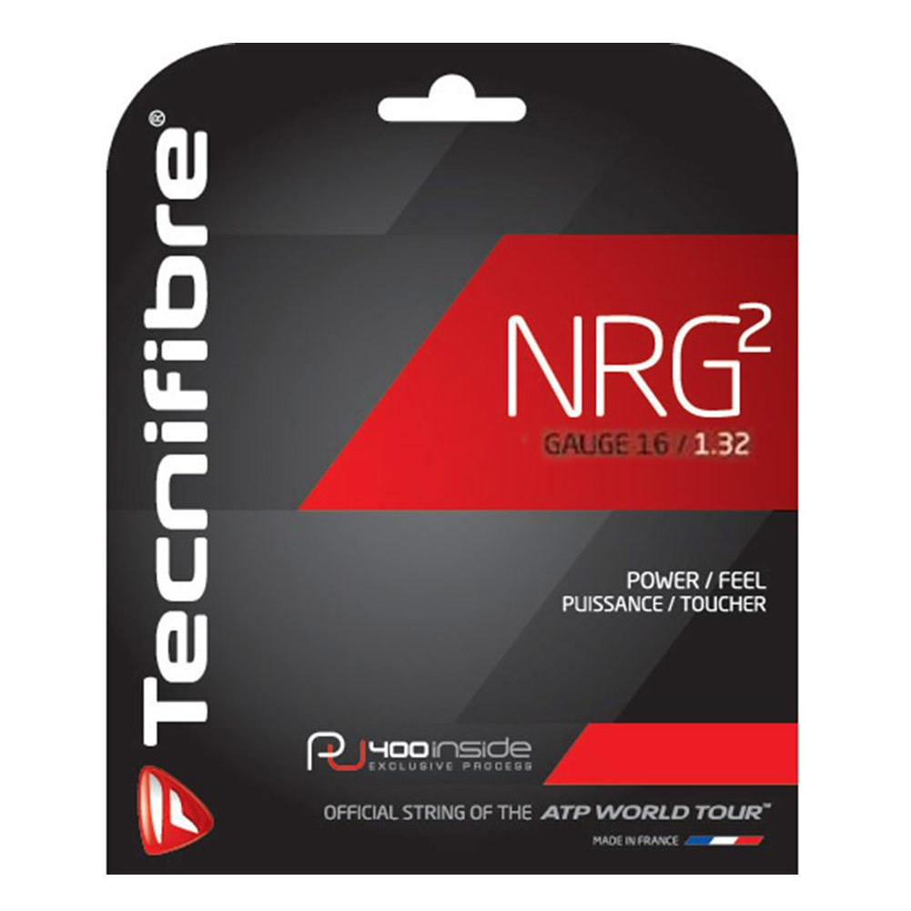 NRG2 16G Tennis String Black