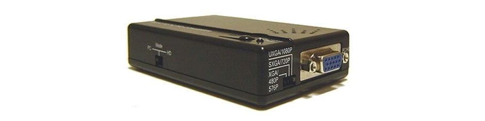 S-Video Composite RCA To Component Video VGA Converter Scaler 1080p 1600x1200