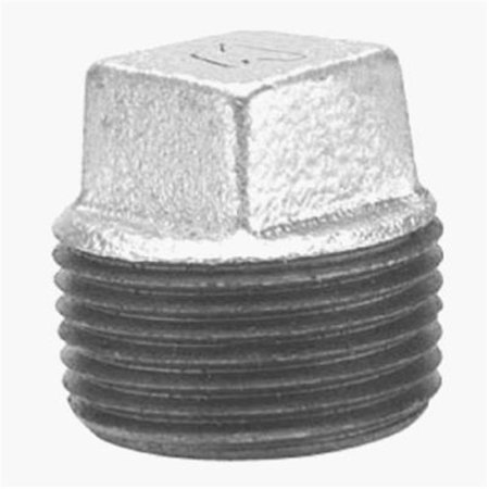 8700159802 .38 in. Malleable Iron Pipe Fitting Galvanized Plug