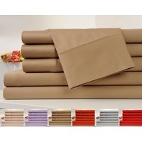 OrganicPro 100% Organic Cotton Bed Sheet Set 4 Piece Cotton Sheets Set (Twin, Mocha)