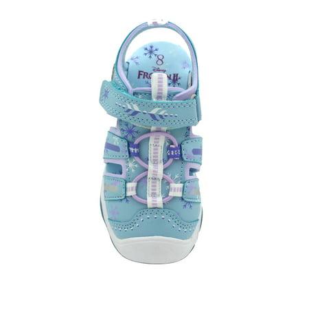Disney Frozen Anna & Elsa Light-Up Bump Toe Active Sandal (Toddler Girls)