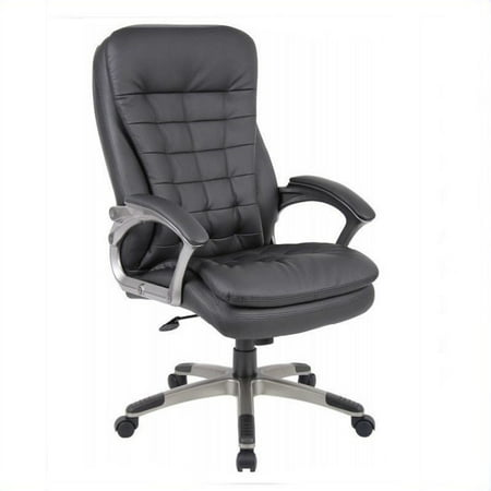 Boss Office Products Executive High Back Pillow Top Chair In Black Image 1 Of