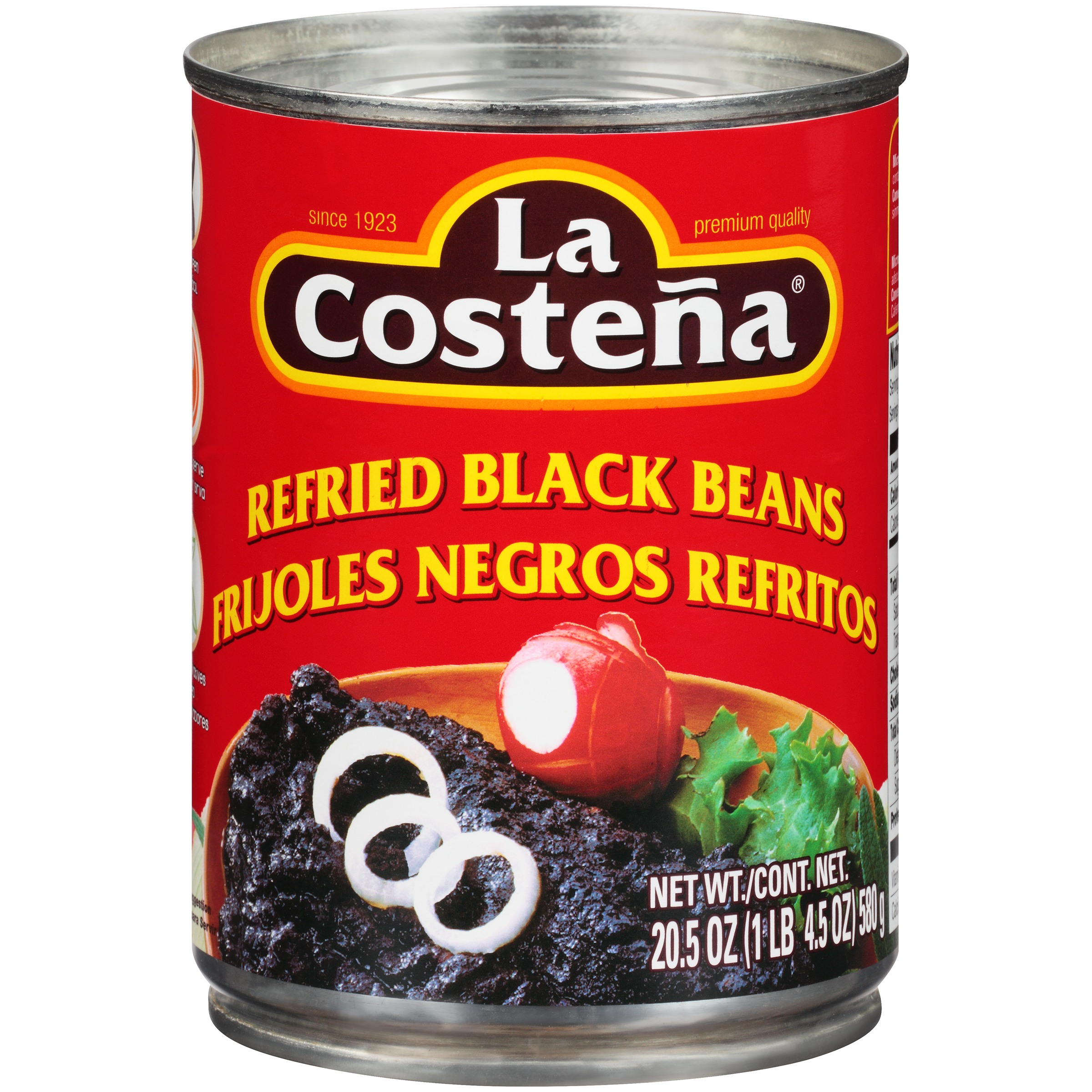La Costena Refried Black Beans, 20.5 oz