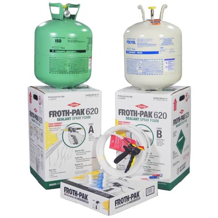 DOW FROTH-PAK 620 Spray Foam Sealant Kit with 15' Hose, Closed Cell Foam, Covers 620 sq