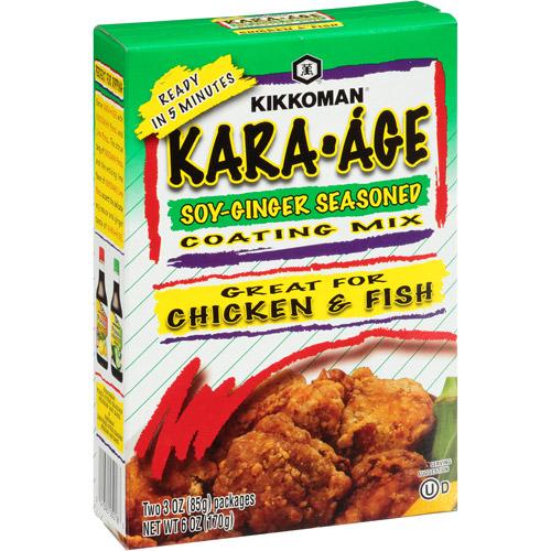 Kikkoman Kara-Age Soy-Ginger Seasoned Coating Mix, 6 oz (Pack of 12)