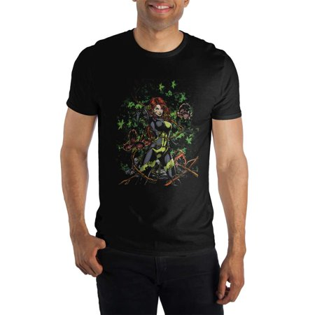 DC Comics Poison Ivy Tangled Black Tee Shirt T-Shirt-Large