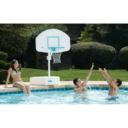 Dunnrite Splash And Shoot Swimming Pool Basketball Hoop With 18 Inch Stainless Steel Rim