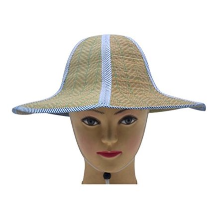 Novo - Novo Straw Hat Large Brim Sun Hat 14.57-Inch Women Summer Beach Cap  Big Foldable Fedora Hats for Women Grils (Blue) - Walmart.com 0fcef59fc08