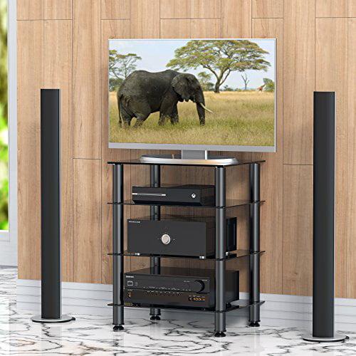 Fitueyes AV Component Shelf Universal TV Stand Audio Cabinet for ...