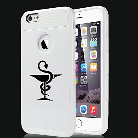 For Apple (iPhone 8) Shockproof Impact Hard Soft Case Cover Pharmacist Pharmacy (White)