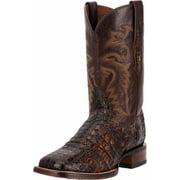 "Dan Post Western Boots Mens 11"" Flank Caiman Cowboy Brown DP3853"