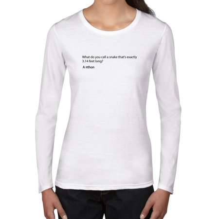 3.14 Foot Long Snake Is A Pi Thon Women's Long Sleeve T-Shirt