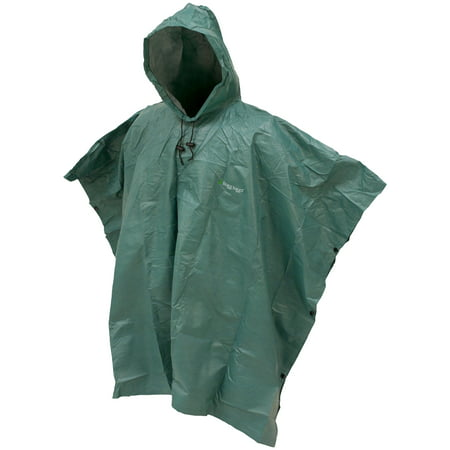 Frogg Toggs Ultra-Lite2 Waterproof Breathable Poncho, Dark Green, One Size